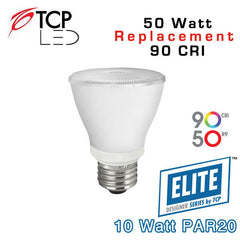 TCP Elite PAR20 - 10 Watt - 50 Watt Equal - 90 CRI