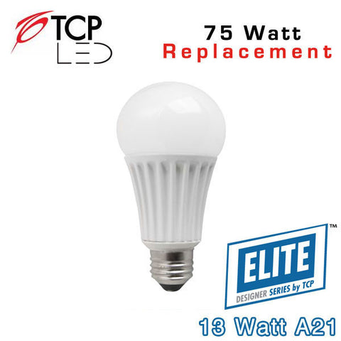 TCP Elite A21 - 13 Watt - 75 Watt Equal
