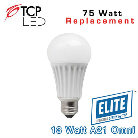 TCP Elite A21 - Omni-Directional - 13 Watt - 75 Watt Equal