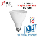 TCP Elite PAR30 Long Neck - 14 Watt - 75 Watt Equal - 90 CRI