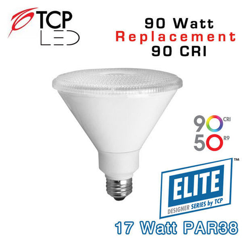 TCP Elite PAR38 - 17 Watt - 90 Watt Equal - 90 CRI