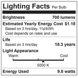 TCP LED BR30 6 Pack - 65 Watt Equal - 10W - Non-Dimming - Flood Light Bulb