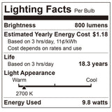 TCP LED A19 3 Pack - 60 Watt Equal - 10W - Non-Dimming