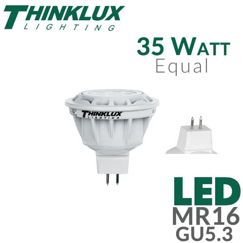 Thinklux LED MR16 GU5.3 - 6 Watt - 35 Watt Equal - Dimmable