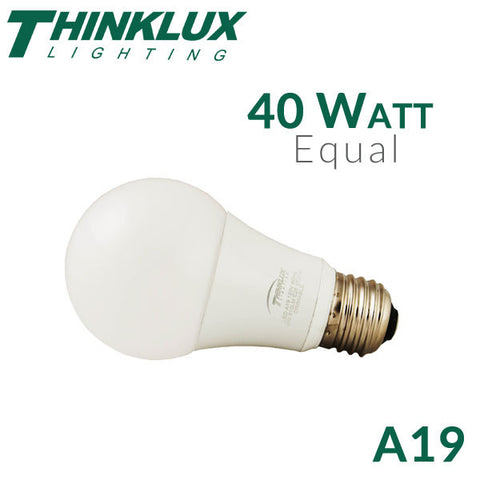 Thinklux LED A19 Light Bulb - 5.5 Watt - 40 Watt Equal - Dimmable - 10 Pack
