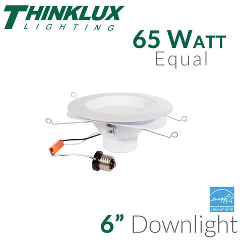 "Thinklux 6"" LED Recessed Downlight - 11.5 Watt - 65 Watt Equal"