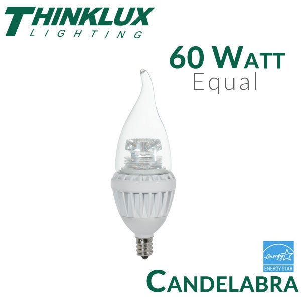60 Watt Equal Led Candelabra Bulb E12 7 Watt
