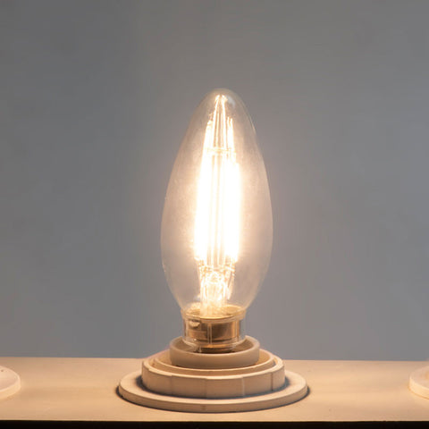 40 Watt Equal LED Filament Candelabra Light Bulb B11 – EarthLED.com