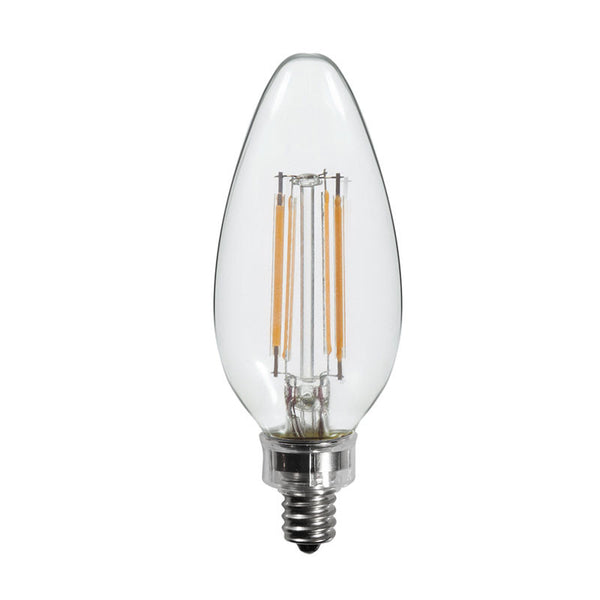 60 Watt Equal Led Filament Candelabra Light Bulb B11