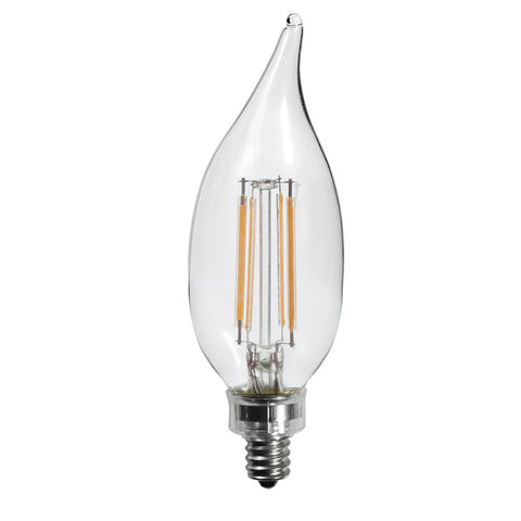 40 watt equal led filament candelabra light bulb c11 earthled thinklux filament candelabra led light bulb 45 watts 40 watt equal dimmable aloadofball Choice Image