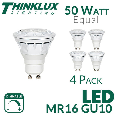 Gu10 Watt Dimmable Thinklux 4 5 Mr16 Pack 6 Equal 50 Led WE2IHbYeD9