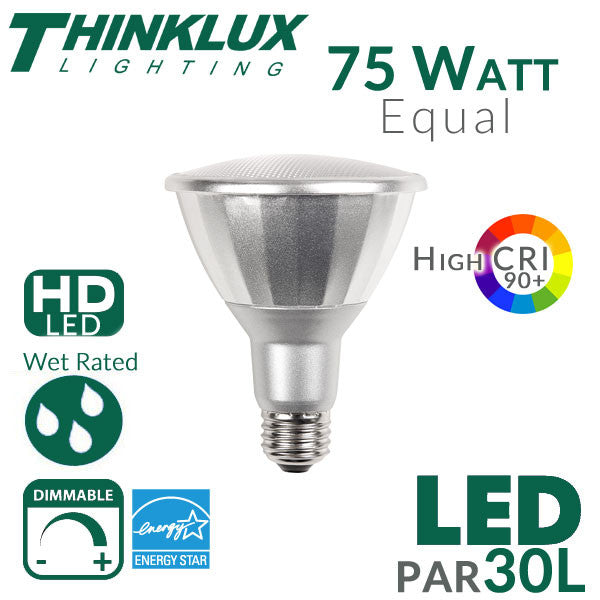 Par30l Led Bulb High Cri 75w Equal 25 Degree