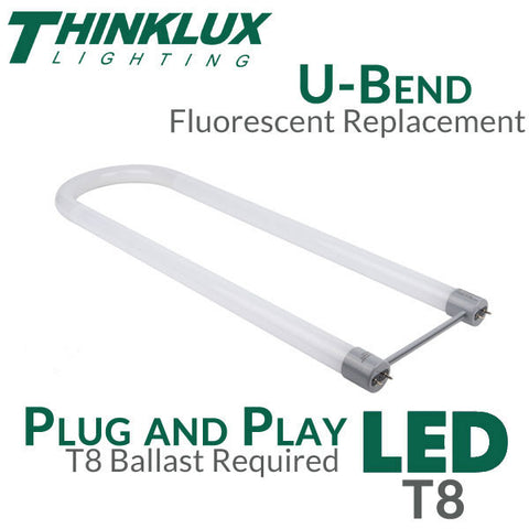 Thinklux - U-Bent - LED Tube Light - 17 Watts - Plug and Play for use with Instant Start Ballasts Only - Shatterproof