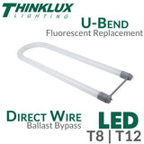 Thinklux - U-Bent - LED Tube Light - 18 Watts - Ballast Bypass Direct Wire - Shatterproof