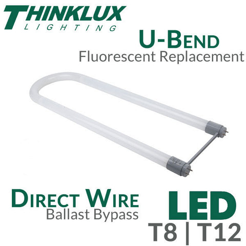 U Bent Led T8 T12 Tube Light Ballast Bypass Direct Wire Earthled Com