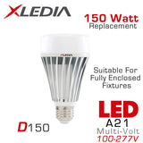 XLEDIA D150N - Omni-Directional A21 LED Light Bulb - 20.7 Watt - 2400 Lumen - Cool White (5000K) - 150 Watt Equal - Suitable for Fully Enclosed Fixtures - 100-277VAC