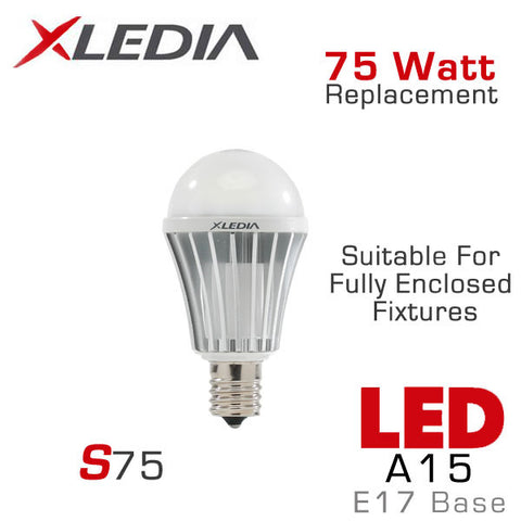 XLEDIA - S75N - A15 LED Light Bulb - 8.3W - 75 Watt Equal - E17 Base - Directional - Non-Dimmable - Suitable for Fully Enclosed Fixtures