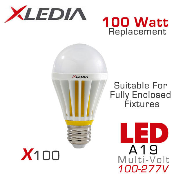 Xledia X100l 100 Watt Equal A19 Led For Fully Enclosed