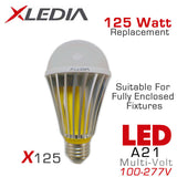 XLEDIA X125L - A21 LED Light Bulb - 21W - 125 Watt Equal - Directional - Non-Dimmable - Suitable for Fully Enclosed Fixtures - 100-277VAC