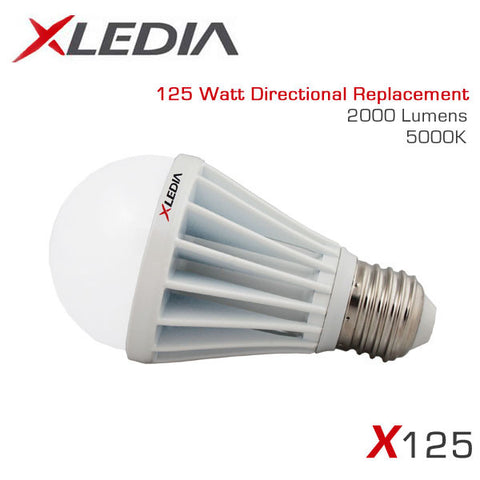 XLEDIA X125N - A19 - 17.5 Watt - 2060 Lumens - Cool White (5000K) - 125 Watt Equal - Suitable for Fully Enclosed Fixtures