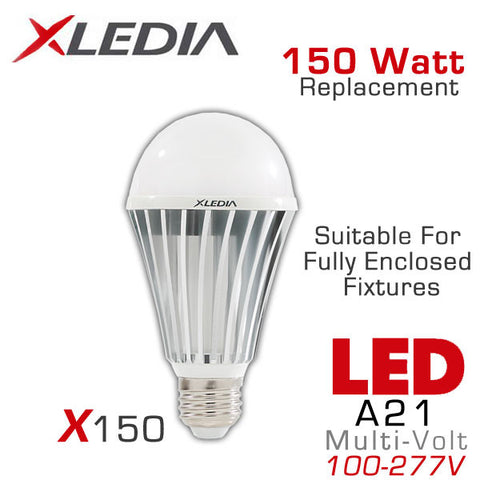 XLEDIA X150N - A21 LED Light Bulb - 21W - 150 Watt Equal - 2400 Lumens - Directional - Non-Dimmable - Suitable for Fully Enclosed Fixtures - 120-277V