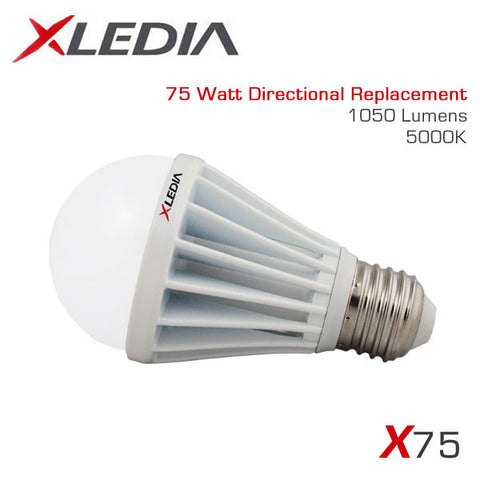 XLEDIA X75N - A19 - 10.3 Watt - 1050 Lumen - Cool White (5000K) - 75 Watt Equal