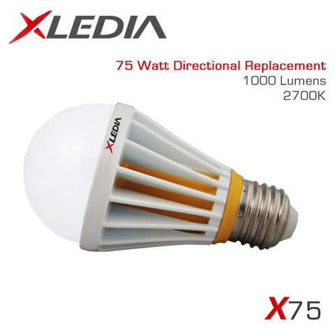 XLEDIA X75L - A19 - 11.8 Watt - 1000 Lumen - Soft White (2700K) - 75 Watt Equal