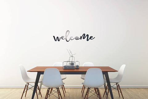 Welcome Wall Art – Barcel Bronze