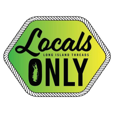 Locals Only Long Island Sticker (Green/Yellow Gradient)