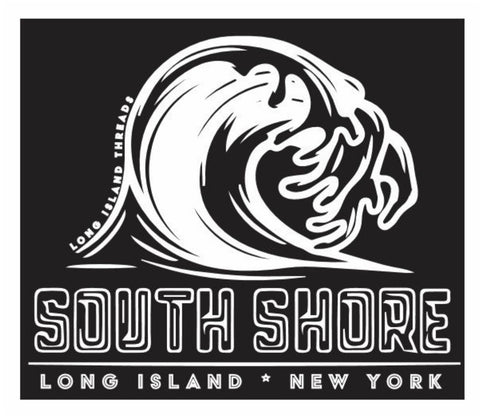South Shore Long Island Wave Sticker (Black)