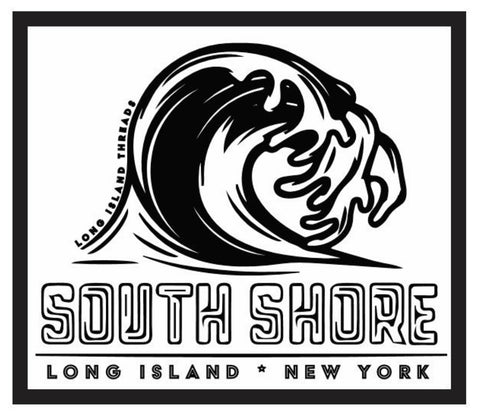 South Shore Long Island Wave Sticker (White)
