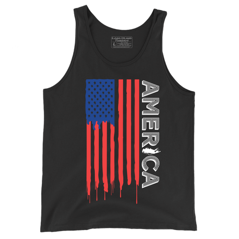 Long Island x America Dripping Paint Tank Top (Black)