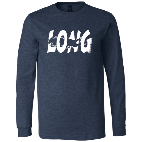LI Offset Long Sleeve T-Shirt (Heather Navy)