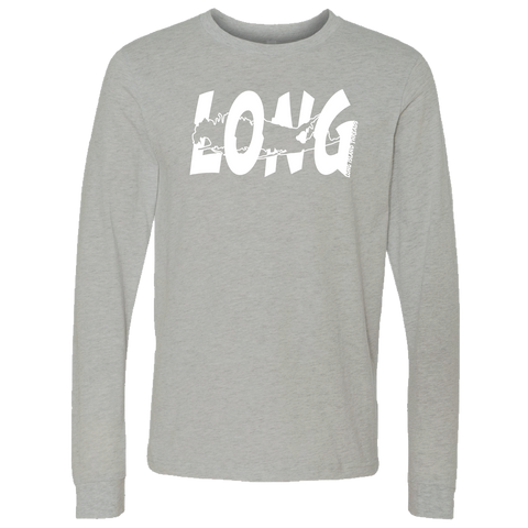LI Offset Long Sleeve T-Shirt (Heather Stone)