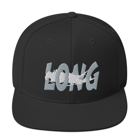 Long Island Offset Snapback (Black/Grey/White)