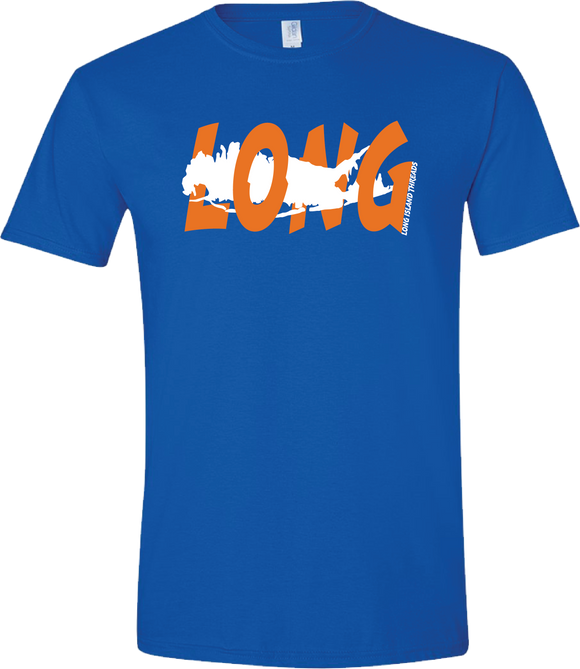 Long Island Offset T-Shirt (Royal Blue/Orange/White)