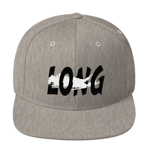 Long Island Offset Snapback (Heather Grey/Black/White)