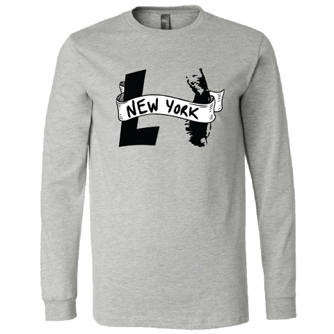 LI NY Banner Long Sleeve T-Shirt (Heather Grey)