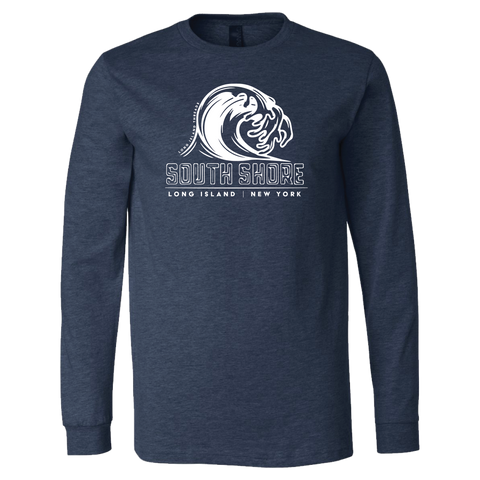 South Shore Long Island Wave Long Sleeve (Heather Navy)