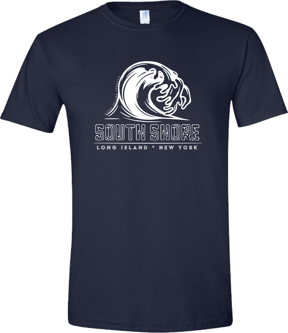 South Shore Long Island Wave Tee (Navy)