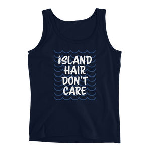 Island Hair Don't Care Women's Tank Top (Navy)