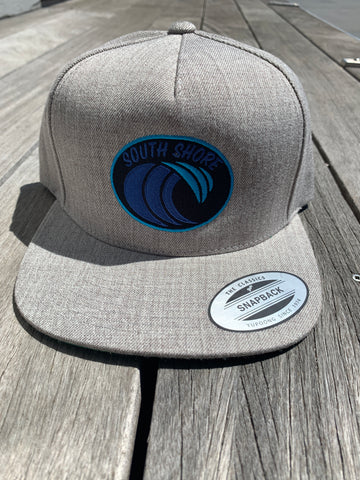 South Shore Wave Snapback (Heather Grey)