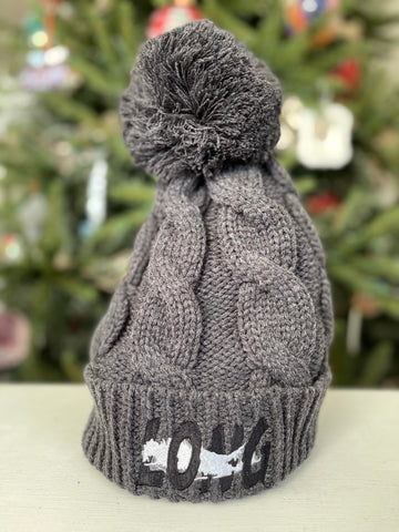 Long Island Offset Twist Knit Beanie