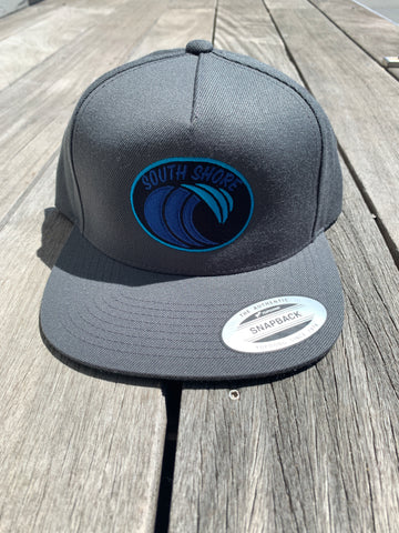 South Shore Wave Snapback (Charcoal Grey)