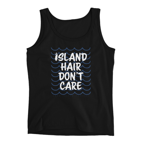 Island Hair Don't Care Women's Tank Top (Black)