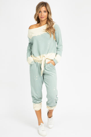 AQUA COLOR BLOCK COZY SET