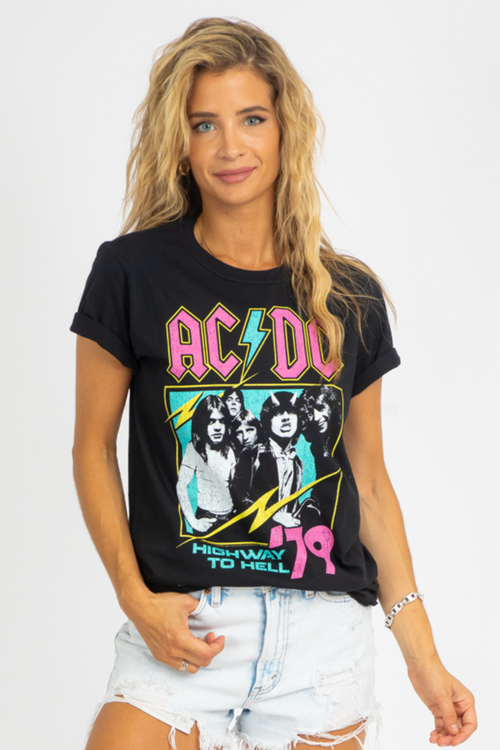 BLACK ACDC GRAPHIC TEE