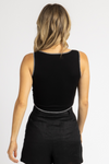 BLACK EXPOSED SEAM TANK