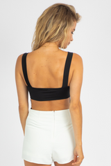 BLACK OPEN BACK BODYSUIT