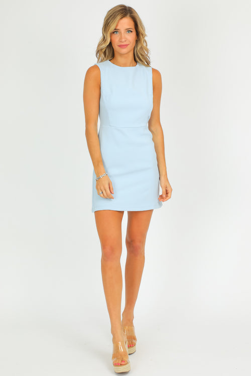 LIGHT BLUE MINI DRESS